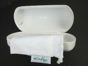 OAKLEY Womens Clamshell Hard Case Sunglass Glasses White Bag