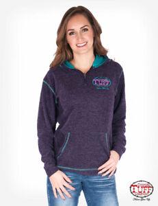 Cowgirl Tuff Purple Fleece Cadet Zip Pullover Hoodie F00419  SALE!!