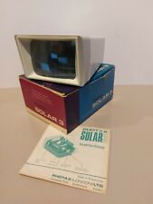 """VINTAGE PHOTAX SOLAR 3  35 MM  2"""" X 2"""" MOUNTS  SLIDE VIEWER. BOXED MINT. TESTED."""