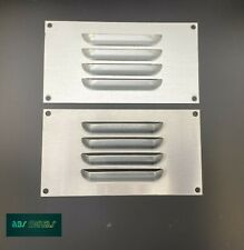 Stainless Steel - Aluminium Louvred Air Vent Grille Cover Duct Ventilation