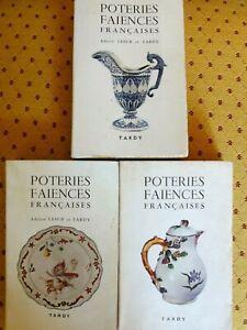 Poteries et Faïences françaises - Lesur & Tardy - 3 tomes  -1969 - 1969 - 1971