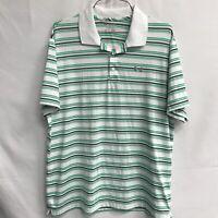 🌴Under Armour UA Men's Short Sleeve Polo Shirt 2XL Striped🌴Free Ship