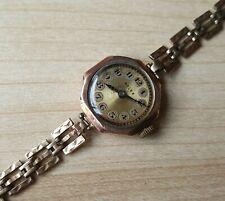 Ladies Vintage .375 9ct Gold Manual Winding Rolex Prima Wrist Watch 14.8g