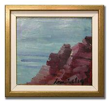 LOUIS ZELIG / CALM SEAS - Original Scandinavian Oil Painting