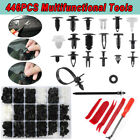 446pcs Car Body Plastic Trim Retainer Fastener Clips Push Pin Fender Bumper Tool