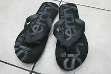Mens Black Superdry Flip Flops Size Medium Good Condition