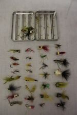 Lot of 26 Vintage Fly Fishing Floating Poppers -  Panfish Bluegill Lures + Case