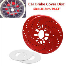 4PCS Universal Car Wheel Brake Disc Cover Decorative Rotor Cross Drilled Parts