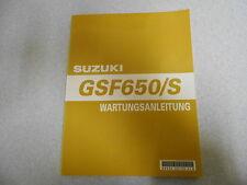 Werkstatthandbuch  Reparaturanleitung Suzuki GSF 650 / S K5