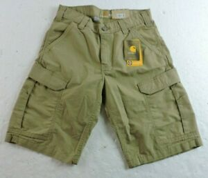 Carhart Mens 30 Waist 11 Inseam Force Broxton Relaxed Fit Cargo Shorts 103543