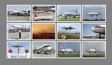 INTERFLUG ILJUSCHIN / ILYUSHIN IL-18 POSTKARTENSERIE - SET MIT 12 KARTEN (12 PC)