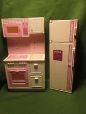 Barbie Doll Furniture ~��~ Sweet Rose Kitchen Unit & Frig 1987