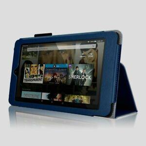Case for Fire HD 8 - Premium Folio Case with Stand Elsse DARK BLUE