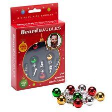 9 Quality Clip On Beard Baubles Decorations Secret Santa Xmas Present Gift Box