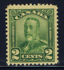 Canada #150(2) 1928 2 cent green KING GEORGE V SCROLL ISSUE MH CV $3.00