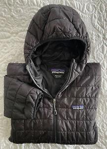 Patagonia Men's Sz M Nano Puff Full-Zip Insulated Hoody Jacket Black A137904