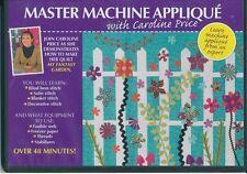 D1 Master  Machine Applique' with Caroline Price  - Australian Quilters DVD