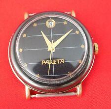 Luxury Wrist watch Raketa Gold plated AU mechanical USSR exclusive case dial
