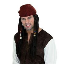 Pirate Wig & Scarf Costume Accessory Adult Halloween