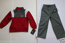 NEW WITH TAG NIKE JERSEY GRAY  MULTI  BOYS SWEATER JACKET & PANT SET SIZE 2T