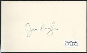 Jim Hughes Minnesota Twins Signed Autograph 3x5 Index Card JSA SOA N13