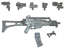 """""""Modular"""" COMMANDO Assault Rifle -1:18 Scale Weapon for 3-3/4"""" Action Figures"""