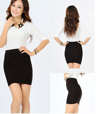 Women Ladies Office Stretch Bodycon Bandage Micro Mini Skirt One Size Fit 6-14