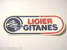VECCHIO ADESIVO AUTO F1 / Old Sticker Vintage LIGIER GITANES (cm 16 x 5)