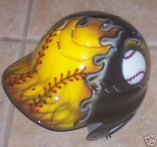 AIRBRUSHED BATTING HELMET BASEBALL SOFTBALL NEW W/NAME