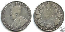CANADA GEORGE V 50 CENTS ARGENT 1917 !!!!!!!