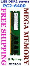 Micron 1GB DDR2 PC2-6400 800MHz Desktop Memory @Syd SAV