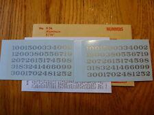 "Champ Decal HO #X-26 Numbers (Aluminum) 3/16"""