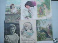 4094 6 Ak Mujeres Kitsch Alrededor De 1900 6PC Mujer Color