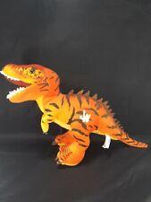 "Jurassic World 16"" Long T-Rex Orange Yellow Plush Dinosaur Toy Licensed"