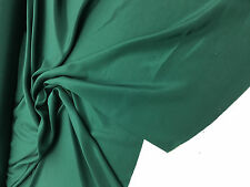 "crepe de shine matte dark green 100% silk 44""/45"" inch  fancy fabric by yard"