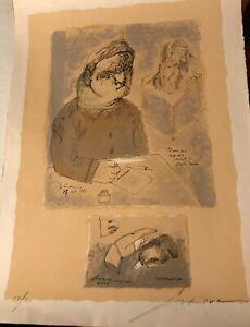 Jose Luis Cuevas, Self Portrait, Etching