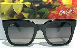 NEW* Maui Jim HELICONIA Black Tortoise Square Polarized Gray Sunglass GS739-02B