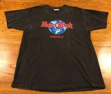 Vintage Hard Rock Cafe Nashville Tennessee T Shirt Size L USA Made Single Stitch