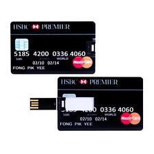 HSBC premier bank credit card 16GB USB 2.0 flash drive memory stick