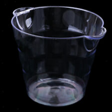 Large Champagne Party Bowl Wine Beer Ice Cooler Bucket Plastic Clear Chiller