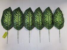 Lot de 6 artificielle dieffenbachia feuilles - 35cm-dieffenbachia pick bundle