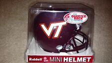 Virginia Tech Hokies Maroon Riddell Mini Helmet - Great for Autographs