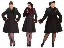 e976e055c5649 Hell Bunny Rock Noir 60s Femme Fatale Coat PLUS SIZES XS - 4XL