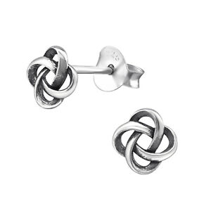ICYROSE 925 Sterling Silver Small Celtic Knot Stud Earrings 3082