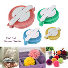 4 Size Pom pom Maker Fluff Ball Weaver Knitting Needle DIY Tool Kit Bobble Craft