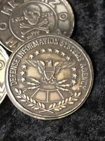 "1 Oz  MK BarZ  ""Defense Information Systems Agency 2019"" Coin Stamped .999 FS"