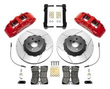 Wilwood SX6R Dynamic Front Brake Kit,2015-2018 Mustang,Red 6 piston calipers,14""