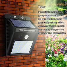 Solar Lights 20LED PIR Motion Sensor Waterproof Garden Lamp Patio Yard Wall Deck