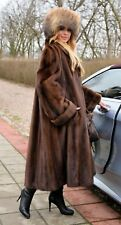 NEW ROYAL MINK FUR LONG SWINGER COAT CLASS OF SABLE CHINCHILLA FOX JACKET PONCHO