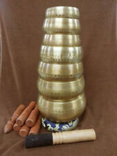 SET OF 7 HAND HAMMERED Nepalese Tibetan Singing Bowls for Meditation from Nepal